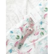 Ciepły kocyk Luxe Bambinka - White