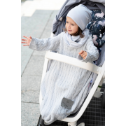 Sleeved bamboo blanket winter Silver