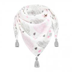 Triangle bamboo scarf Blush rain Gray