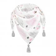 Triangle bamboo scarf Blush rain Grey
