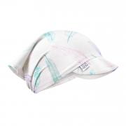 Bamboo visor scarf with elastic - Paradise feathers