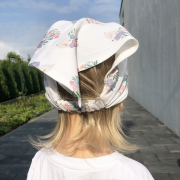Bamboo visor cap Heavenly feathers