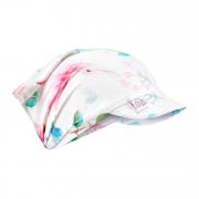 Bamboo visor scarf with elastic - Paradise birds