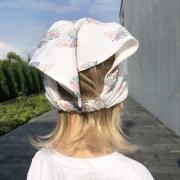 Bamboo visor cap Paradise birds