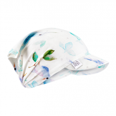 Bamboo visor scarf with elastic - Heavenly birds