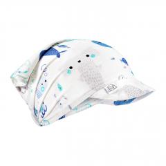 Bamboo visor scarf with elastic - Sea friends