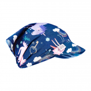 Bamboo visor scarf with elastic - Unicorns