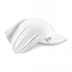 Bamboo visor scarf with elastic - cream