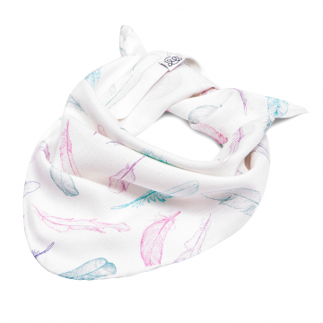 Bamboo triangle scarf Paradise feathers