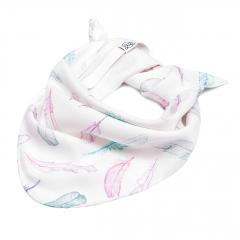 Triangle bamboo scarf - Paradise feathers