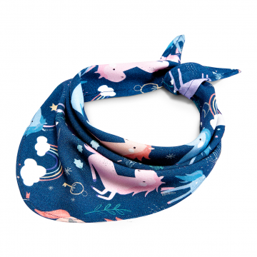 Bamboo triangle scarf Unicorns