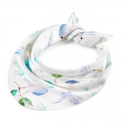 Triangle bamboo scarf - Heavenly birds