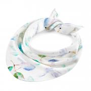Bamboo triangle scarf Heavenly birds