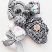 Buciki dla niemowląt miętowe
