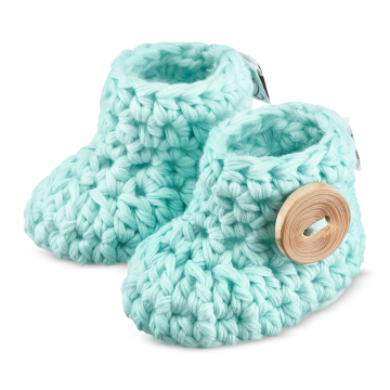Miętowe buciki dla niemowląt