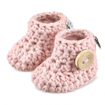 Baby booties - dusty pink