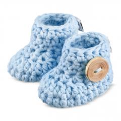 Baby booties - light blue