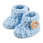 Buciki bawełniane Błękit