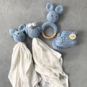 Baby booties Blue