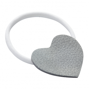 Headband Heart White-Grey