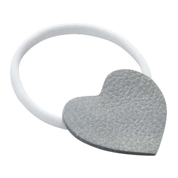 Headband Heart White-Grey