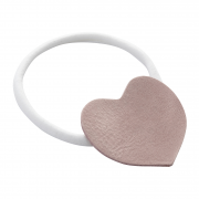 Headband Heart White-Dusty rose