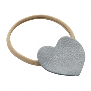 Headband Heart Beige-Grey