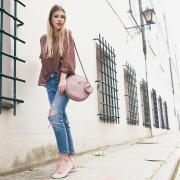 IDA bag with purse owl Dusty rose