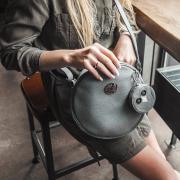 IDA bag with purse owl black