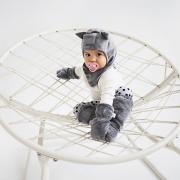 Szara kominiarka dla niemowląt
