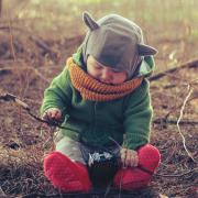 Szara czapka kominiarka dla dziecka