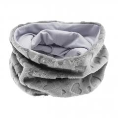 Winter round scarf Love grey