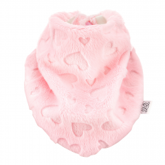 Winter triangle scarf - Love pink