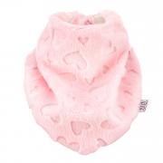 Winter scarf Love pink