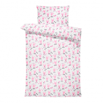 Bamboo bedding cover set L Bunnies