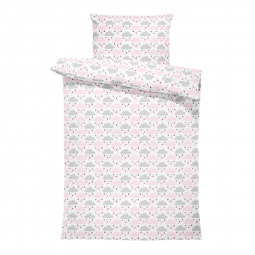 Bamboo bedding cover set L Blush rain