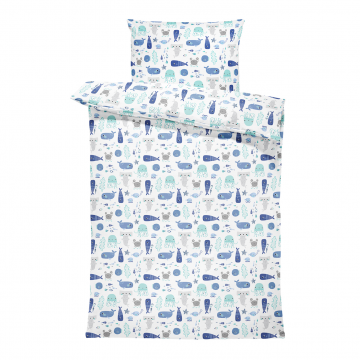 Bamboo bedding cover set M Sea friends