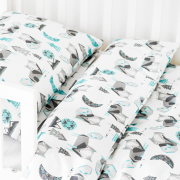 Bamboo bedding cover set S Dragons blue