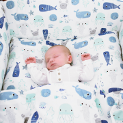 Bamboo bedding cover set S Sea friends
