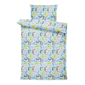 Bamboo bedding set with filling L Dragons blue
