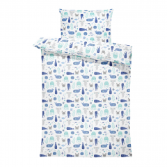 Bamboo bedding with filling - Sea friends