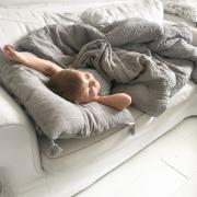 Muslin pillow 60x50 Grey