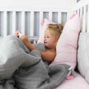 Muslin pillow 60x50 Pink