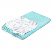 Light bamboo blanket - Paradise feathers - lodowy