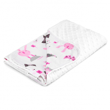 Light bamboo blanket Bunnies White