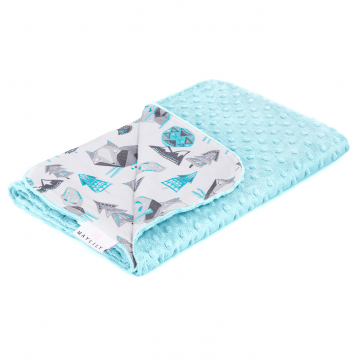 Light bamboo blanket Wolves Ice