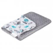 Light blanket Wolve Silver