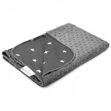 Light bamboo blanket Stars Graphite