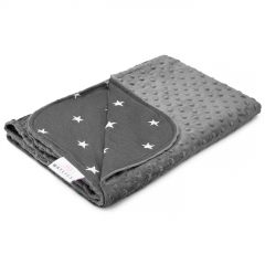 Light bamboo blanket Stars - Graphite