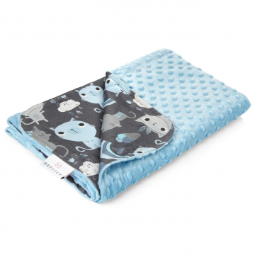 Light bamboo blanket Indiana cat Blue